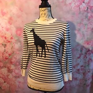 Striped Giraffe Banana Republic Sweater